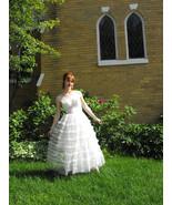50s Wedding Gown Strapless Formal Bridal Vintag... - $188.00