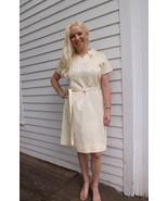 60s Gracie Square Originals Dress Vintage Ivory... - $39.99