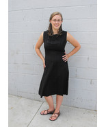 Black Dress Sleeveless Cotton Rayon Fashion Fro... - $19.99