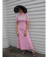 Maxi Pink Lace Prairie Vintage 70s Hippie Dress... - $44.00