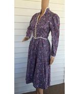 Gunne Sax Floral Prairie Dress Purple Print Vin... - $69.99