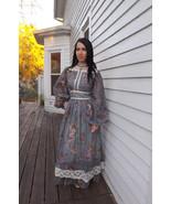 Gunne Sax Dress Victorian Reenactment Blue Flor... - $98.00
