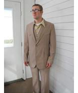 Vintage 70s Mens Suit Western Campus Retro Coun... - $78.00