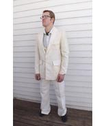 Vintage Mens Suit Ivory 3 piece Beltback Action... - $49.99