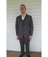 Vintage 70s Mens Suit 1970s 3 piece Retro - $170.00