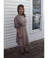 Casual Shirtwaist Dress Beige Dolman Vintage 70... - $39.99