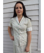 50s Cherry Print Top Cotton Blouse Apples Pears... - $39.99