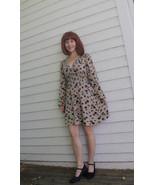 Vintage 70s Mini Dress Mod Print Rag Dolls S XS... - $39.99