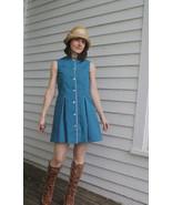 Blue Mini Dress Girls Misses XS Petite Vintage ... - $39.99