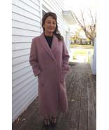 Pink Mohair Coat Long Mayfair Vintage 70s 1970s M - $98.00