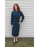 Vintage 60s Blue Floral Dress Richard Cole 1960... - $49.99