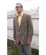 Vintage 70s Mens Jacket Sport Coat Wool Tweed S... - $39.99