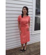 Vintage 60s Dress Coral Pink Adele Martin 1960s M - $49.99