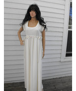 Hippie Dress Maxi Vintage 70s 1970s Boho Ivory ... - $39.99