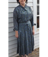 1950s Floral Dress 50s Vintage Forever Young XL... - $49.99