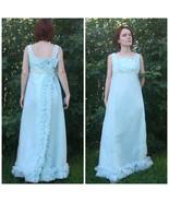 1960s Gown Formal Party XS S Aqua Blue Vintage ... - $68.00