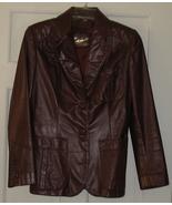 Vintage Etienne Aigner Leather Jacket Size 10 - $24.97