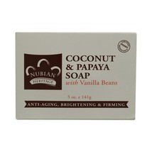 Nubian Heritage Bar Soap Coconut And Papaya Wit... - $4.99