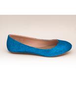 Glitter | Peacock Blue Ballet Flats Slippers Cu... - $49.99
