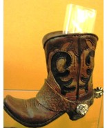 Western Cowboy Boot Resin Collectible Brown Boo... - $9.25