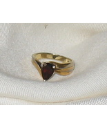 Vintage Ruby & 925 Ring Size 5 1/2 Gold on Silver - $65.56