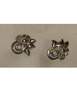 Vintage Sterling Floral Screw on Earrings - $36.00