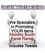 Social Media Specialists ONE MONTH Booth Panel ... - $9.00