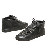 Balenciaga Gray Distressed Leather Arena High S... - $395.00