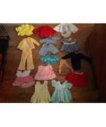 Lot Vintage Doll  Cotton Clothes Dresses  Bodys... - $35.00