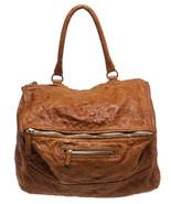 Givenchy Tan Distressed Leather Pandora Satchel... - $1,095.00
