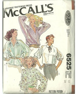McCall's Sewing Pattern 6525 Misses Womens Blou... - $9.98