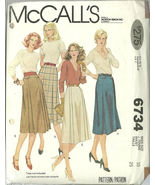 McCall's Sewing Pattern 6734 Misses Womens Skir... - $9.98