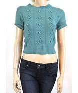 NEW NWT Anthropologie Tulle Teal Green Crotchet... - $18.00