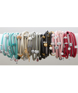 Story Bead Triple Wrap Italian Leather Charm Br... - $49.87