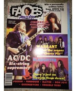 1991 - MARCH - Faces Rocks Magazine-AC/DC-Slaug... - $12.99