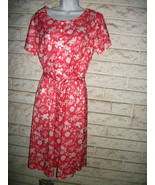 VNT 60-70s HABAND DRESS sz 14P or SMALLER  CORA... - $12.99