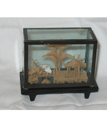 Vtg. Hand Carved Chinese Art Pagoda Scene - $23.95