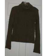 Women's J. Crew Brown CowllikeTurtleneck Sweate... - $19.95