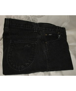 Chic Black Denim Jeans Size 8 Tall Made in USA - $15.95