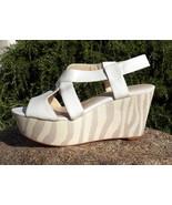 $125 CALVIN KLEIN 'Eleni' Antique White Sandals... - $19.20