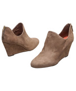 Via Spiga Taupe Suede Back Zip Wedge Ankle Boot... - $150.00