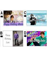 Justin Bieber Custom Cake Topper Frosting 6 styles - $7.99