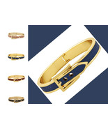 Faux Leather Inlay Belt Design Hinged Fashion B... - $15.00