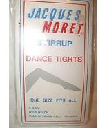 Vintage JACQUES MORET Stirrup Tights Pearl Grey... - $9.99