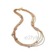 Michael Kors Fireball Multi Long Chain Necklace... - $180.68