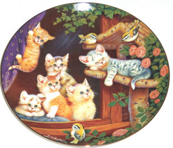 Cat Kitty Collector Plate Kitten Capers Frisky ... - $49.95