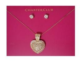 Charter Club Crystal Pave Heart Fashion Pendant... - $12.19