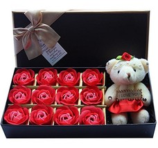Rose soap 12Pcs/Box Romantic Rose Soap Flower W... - $27.65