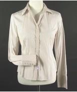 ANN TAYLOR LOFT Size 8 Pink Green Cotton Shirt - $4.99