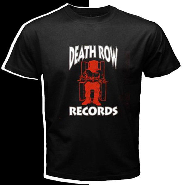 Death row records logo red white custom black t shirt s m l xl xxl